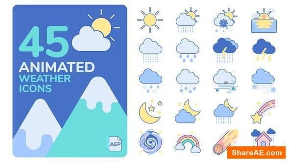 Videohive Animated Weather Icons