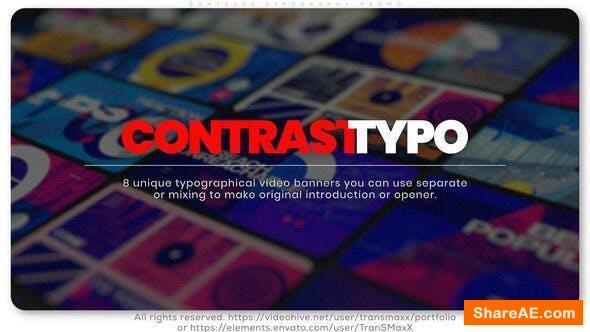 Videohive Contrast Typography Promo