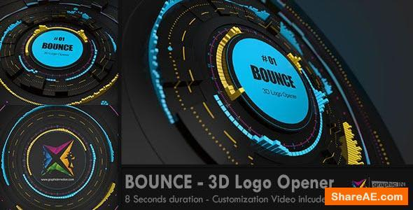 Videohive BOUNCE - 3D Logo Opener
