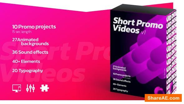 Videohive Short Promo Videos. Set v.1 (Promo projects | Sound FX | Typography & more)