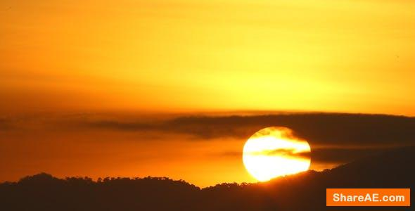 Videohive Rising Sun Close-up - Stock Footage