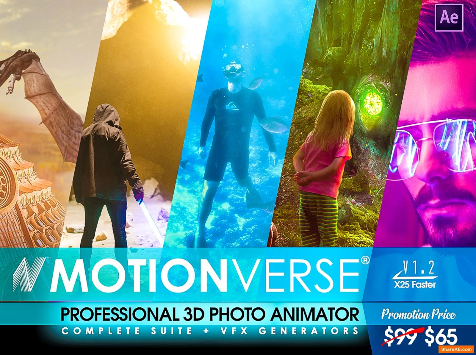Videohive MotionVerse - Biggest 3D Photo Animator and VFX Suite | Miscellaneous