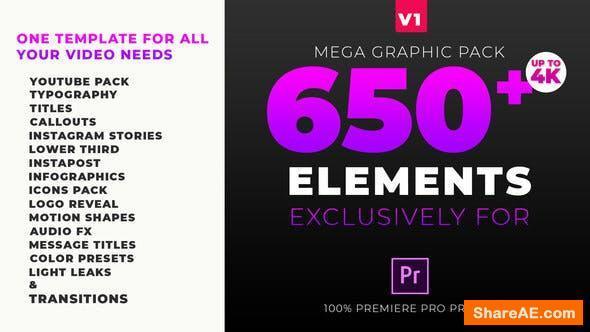 Videohive Mega Graphics Pack - Premiere Pro