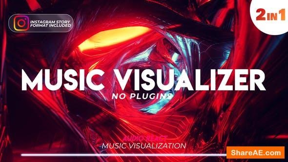 Videohive Music Visualizer Tunnel with Audio Spectrum