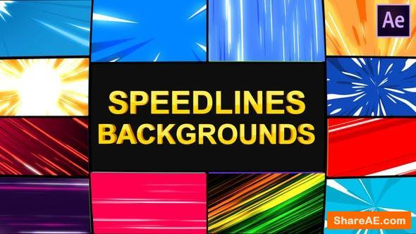 Videohive Speedlines Backgrounds | After Effects