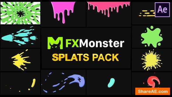 Videohive Splats Pack | After Effects
