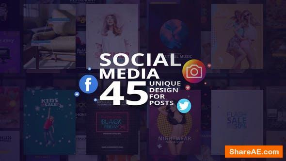 Videohive Social Media - 45 Unique Design for Posts