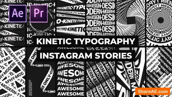 Videohive Kinetic Typography Instagram Stories