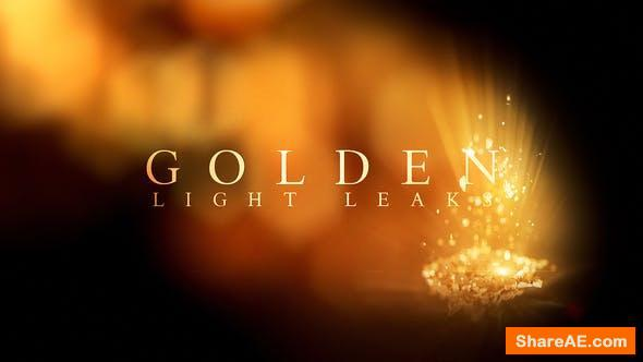 Videohive Golden Light Leaks