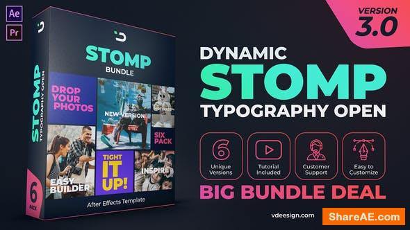 Videohive Dynamic Stomp Typography Open v3