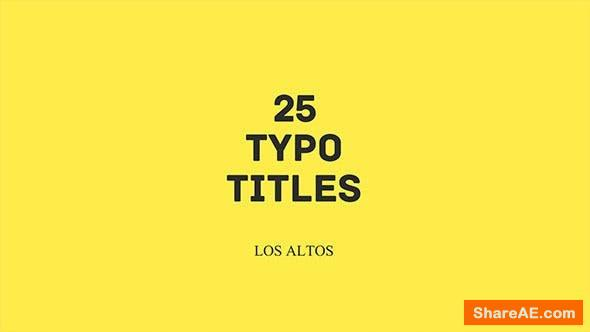 Videohive Los Altos l 25 Colorful Animated Typo