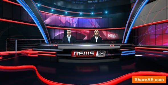 Videohive News Virtual Studio Set