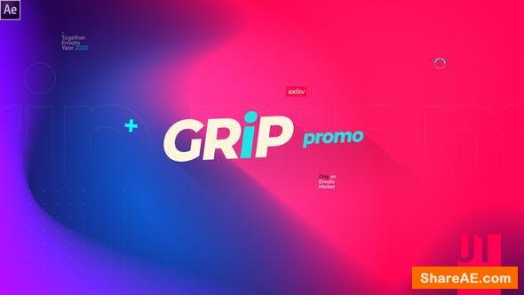 Videohive Grip Modern Gradinet Typography Opener Promotion