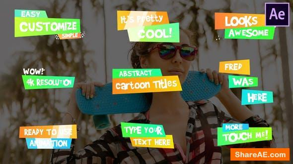 Videohive Funny Cartoon Titles | After Effects