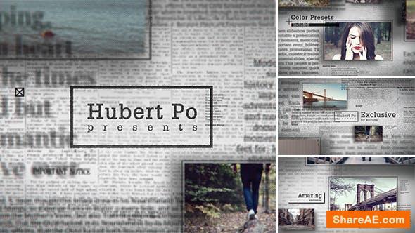 Videohive Grunge Newspaper Slideshow