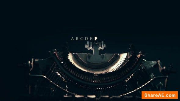 Videohive Machine for Typing