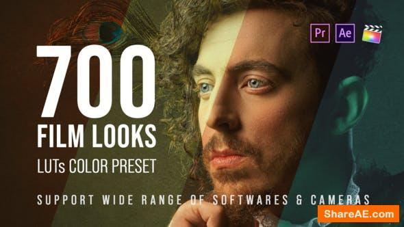 Videohive 700 Film Looks - LUT Color Preset Pack - Premiere Pro