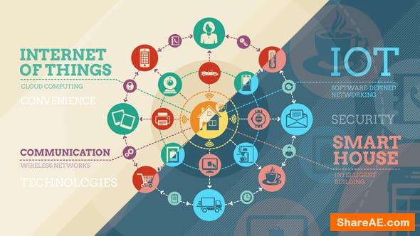 Videohive Internet Of Things And Smart Home Infographics