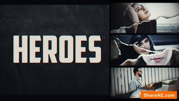 Videohive Page Turn Heroes Intro