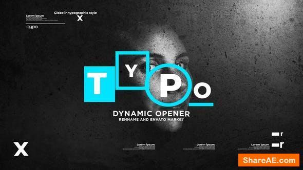 Videohive Typographic Dynamic Stomp Opener