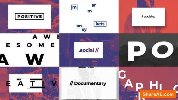 Videohive Typographic And Documentary Opener