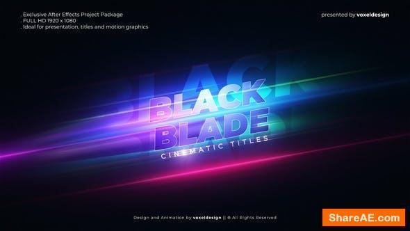 Videohive Black Blade Cinematic Opener