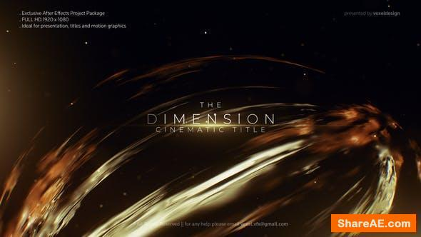 Videohive Dimension Cinematic Title