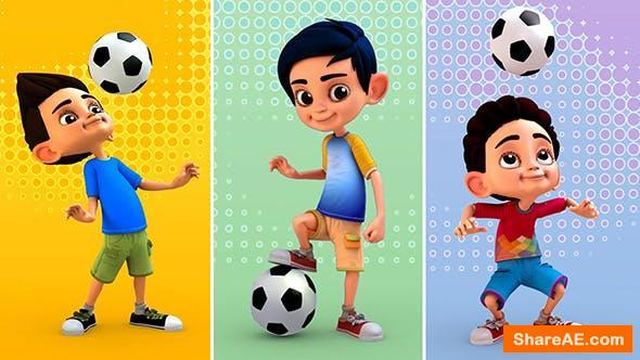 Videohive Football 3D Character