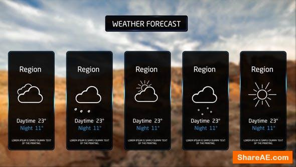 Videohive Weather Forecast Broadcast - With Intro