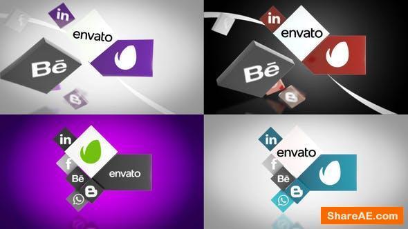 Videohive Social Media Unfold Logo Reveal