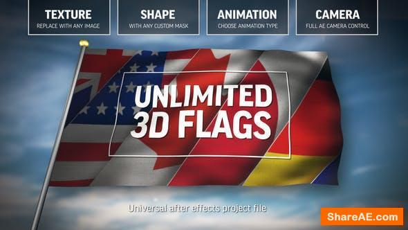 Videohive Unlimited 3D Flags