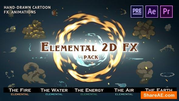Videohive Elemental 2D FX pack [Last Update] - Motion Graphics