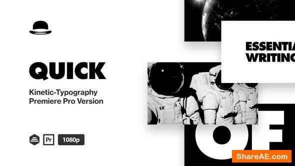 Videohive Typography - Premiere PRO 25807771
