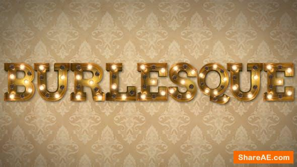 Videohive Burlesque Light Bulb Letters