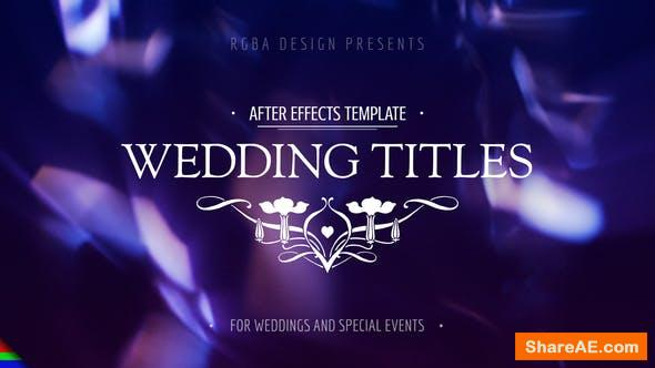 Videohive Wedding Titles 21649618