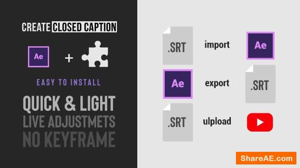 Videohive Social Media Video Captions Import & Export SRT files
