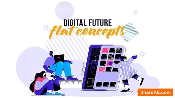 Videohive Digital Future - Flat Concept