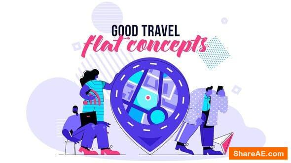 Videohive Good Travel - Flat Concept