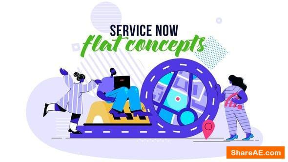 Videohive Service Now - Flat Concept