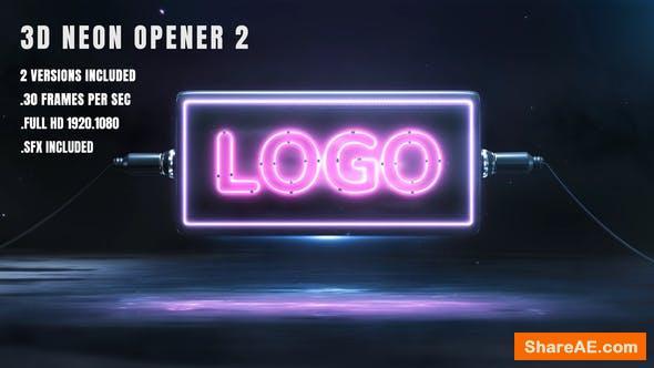 Videohive 3D Neon Opener 2