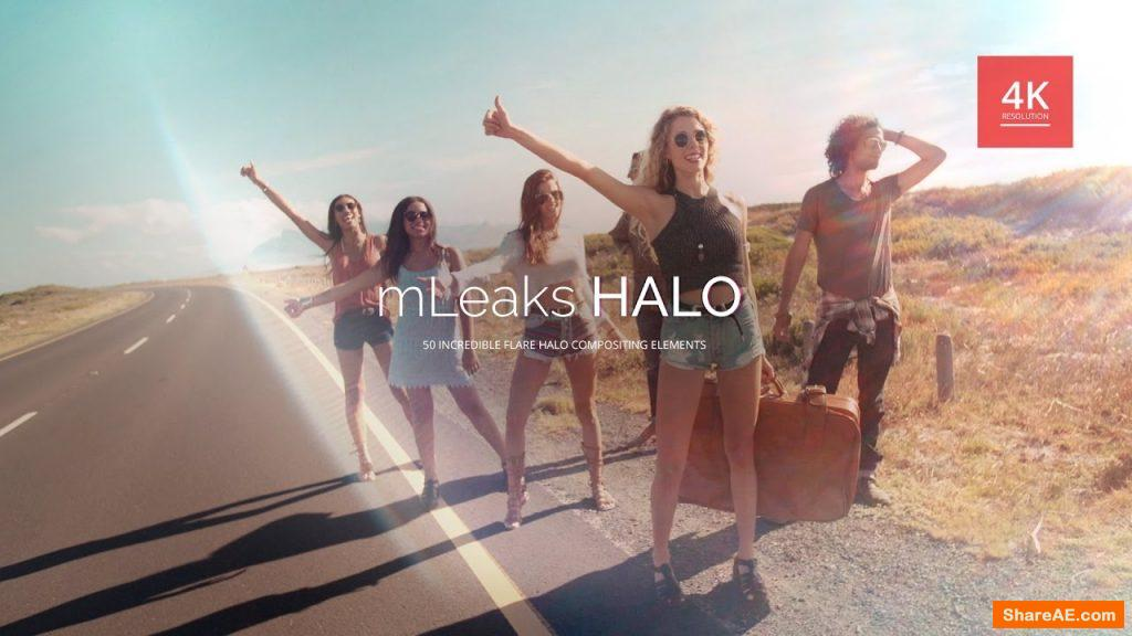 mLeaks Halo - 50 High Quality 4K Light Leak Overlays - MotionVFX