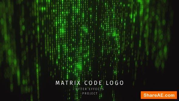 Videohive Matrix Code Logo