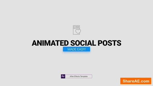 Videohive Animated Social Posts
