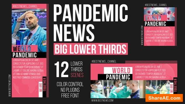 Videohive Pandemic News - Big Lower Thirds
