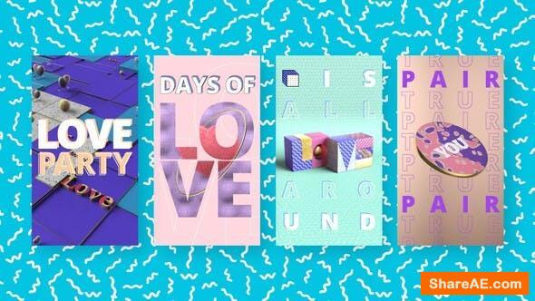 Videohive Colorful Love Stories