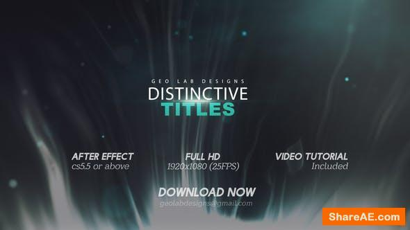 Videohive Distinctive Titles l Particles Lights Titles l Lines Waves Titles