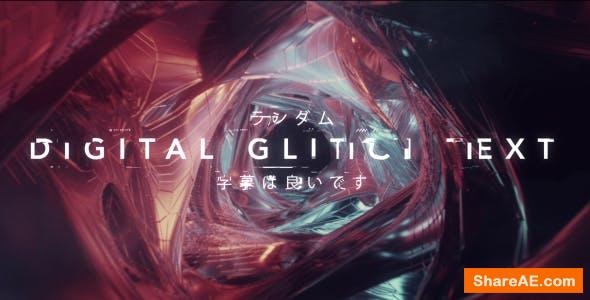 Videohive Digital Glitch Text