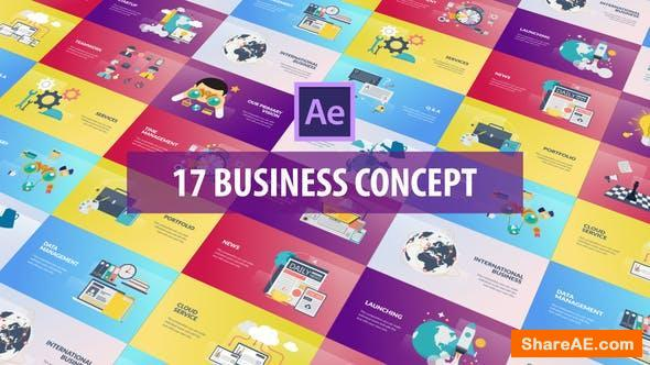 Videohive Business Concept - Flat Animation