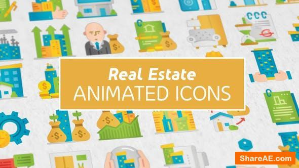 Videohive Real Estate Modern Flat Animated Icons