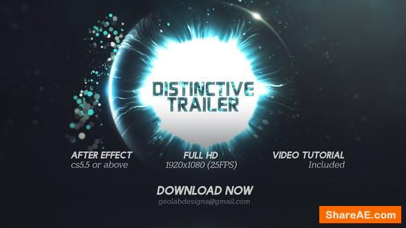 Videohive Distinctive Cinematic Trailer l Particles Lights Trailer l Particles Waves Trailer